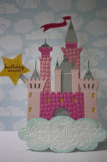 redheaded crafter princess castle birthday card cricut