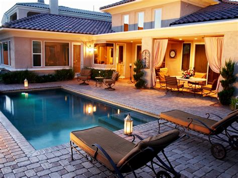 neutral mediterranean swimming pool photos hgtv