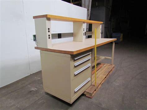stanley vidmar workbench  hardwood top wriser