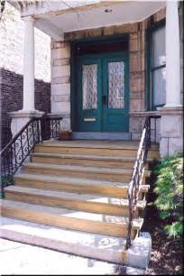 Wooden Front Porch Steps with Landing