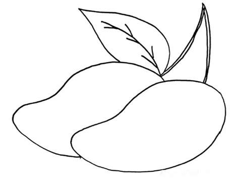gambar mewarnai buah mangga