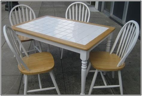 tile top kitchen table and chairs white tile kitchen table tile design ideas 9470