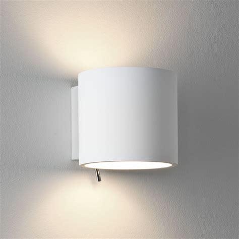 astro lighting 0916 brenta switched wall light in white