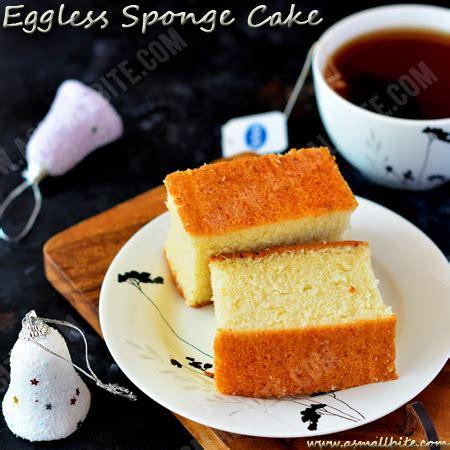 Eggless Sponge Cake Recipe  Eggless Vanilla Cake Asmallbite