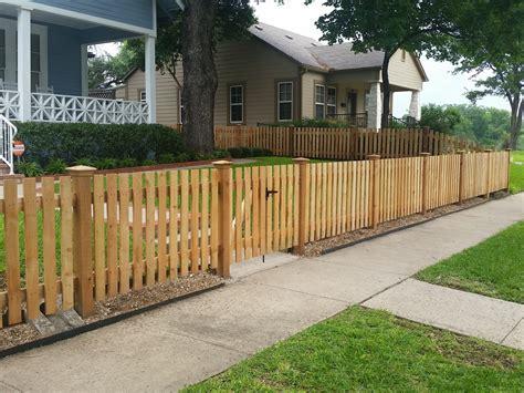 custom wood fence austin tx horizontal cedar picket