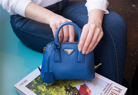 prada mini saffiano promenade bag purseblog