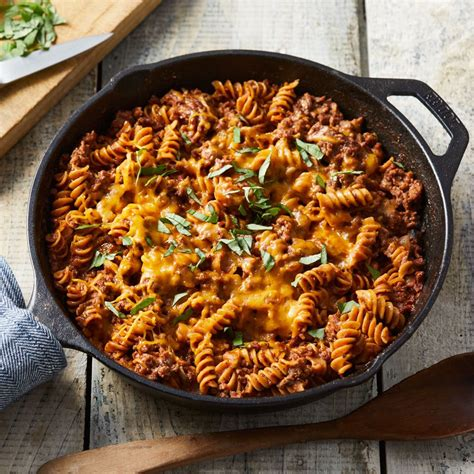 ground beef recipies ground beef pasta skillet recipe eatingwell