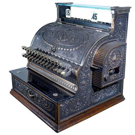 cash register desk for sale restored brass national cash register model 343 at 1stdibs