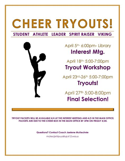 cheer tryouts puyallup high school