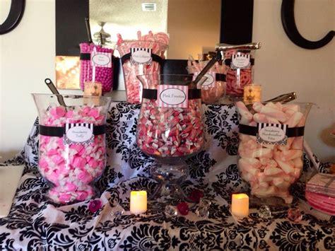candy buffet paris themed bridal shower pinterest