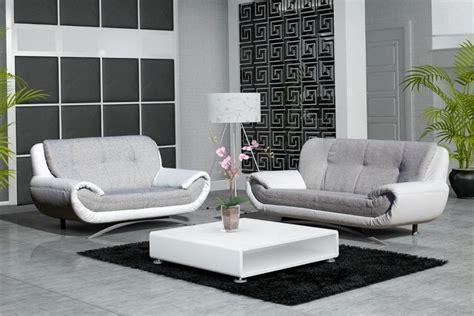 photos canap 233 blanc et gris cuir
