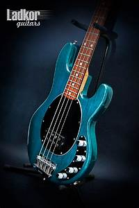 2000 Ernie Ball Musicman Stingray Translucent Teal Bass