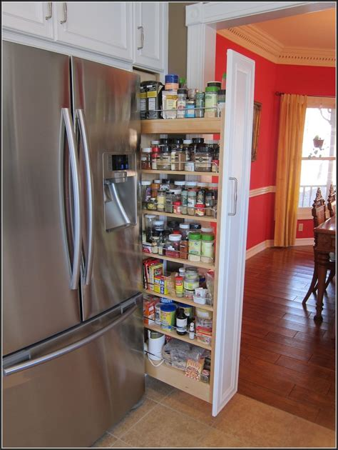 Kitchen Cabinet Pull Out Spice Rack  Cabinet Home
