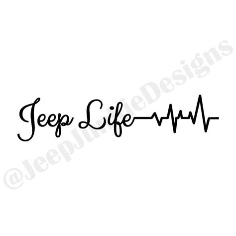 jeep heartbeat jeep life heartbeat vinyl sticker jeep sticker jeep decal