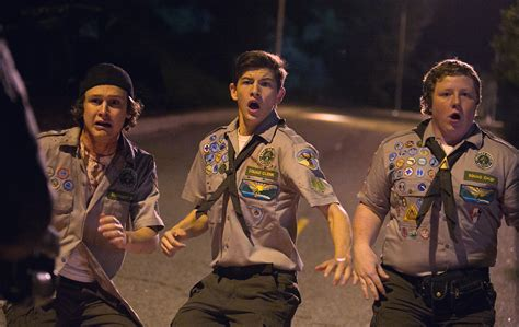 zombie scouts apocalypse guide logan sheridan tye miller joey know things morgan collider paramount via