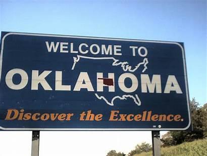 Oklahoma Welcome Sign States State Ok Gun