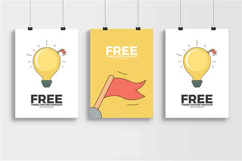 Showcase your designs in these blank mockups that are easy to edit. Free PSD Poster Mockup | Mockuptree
