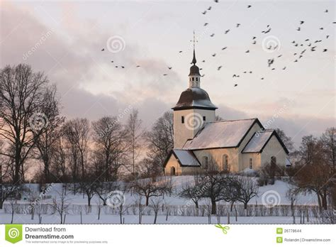 swedish church winter stock images image