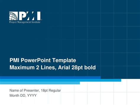 ppt pmi powerpoint template maximum 2 lines arial 28pt bold powerpoint presentation id 6668087