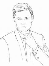 Coloring Zac Efron Celebrity Pages Books Adult Drawings Swoon Sketch Sketches Template Celebrities Printables Designlooter 77kb 900px Socialitelife sketch template