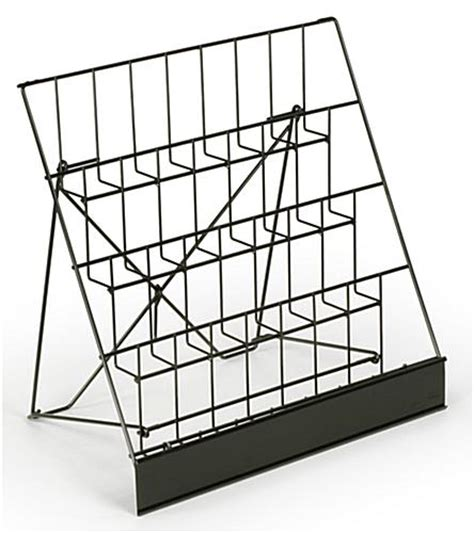 wire display  tiered cd holder countertop stand