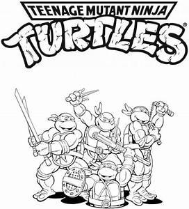 Coloring Pages Teenage Mutant Ninja Turtles Coloring Home