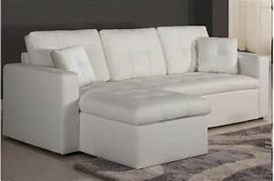 canape d39angle modulable et convertible 3 places blanc With tapis exterieur avec canapé panoramique cuir blanc