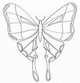 Butterfly Coloring Pages Printable Simple Butterflies Insects Very Children Smart Justcolor sketch template