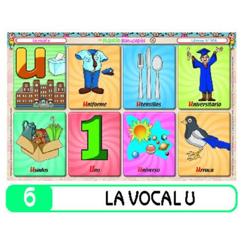 6 la vocal u