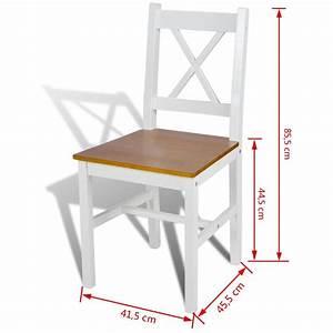 Salle A Manger Bois Blanc : acheter 2 pcs chaise salle manger en bois blanc et naturel pas cher ~ Melissatoandfro.com Idées de Décoration