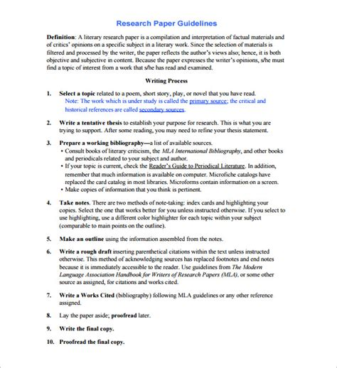 how to format research paper research outline template 10 free sample example