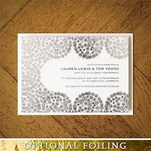 winter snowflakes foiled invitation feel good wedding With rose gold winter wedding invitations