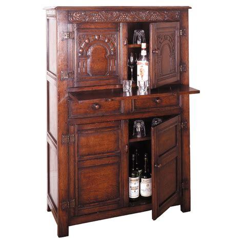 english oak kitchen cabinets jacobean period english oak wine cabinet with slide