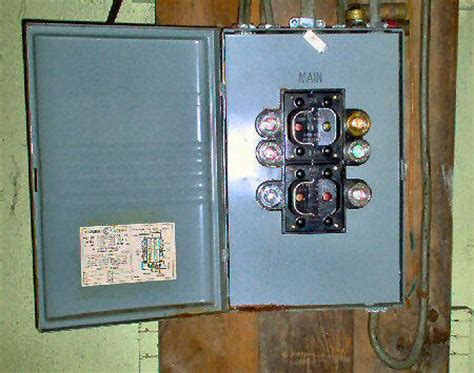 Knob And Wiring Fuse Box by A Circuit Breaker