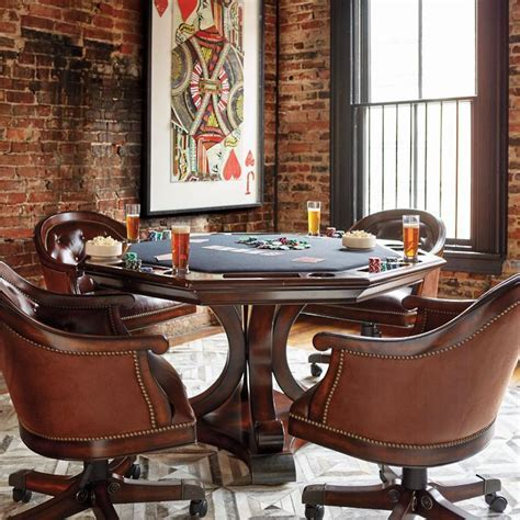Edison Game Table and Chairs   Frontgate