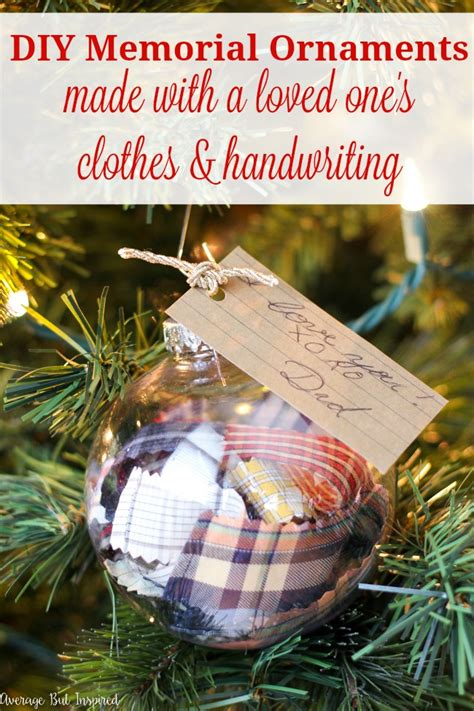 diy ornament place card diy memorial ornaments to remember loved ones at
