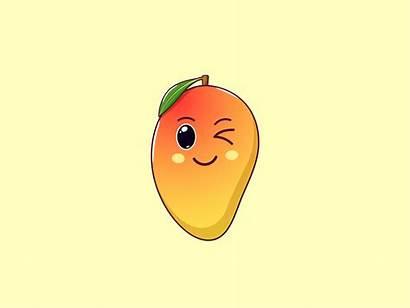 Mango Fruit Kawaii Cartoon Clipart Sticker Emoji