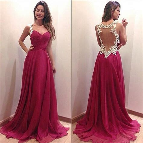 Prom Dresses 2015 Women Vintage Luxury Deep V Neck Hollow ...