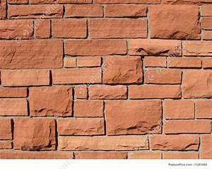 Red Sandstone Wall Image