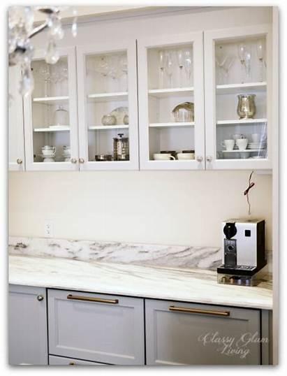 Upper Cabinets Kitchen Glass Doors Update Minimalist