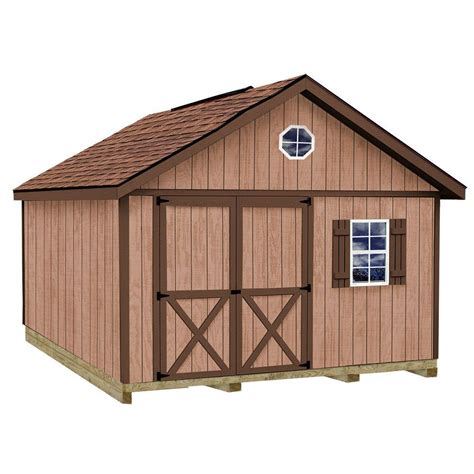 12x16 Shed Kit With Floor by Best Barns Brandon 12x16 Wood Shed Free Shipping