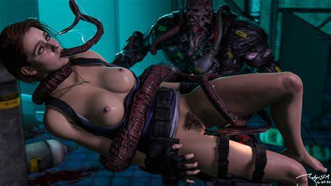 Rule 34 3d Badgersfm Impalement Jill Valentine Nemesis