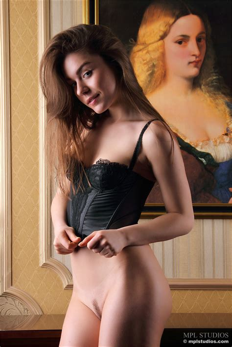 Skimpy Black Lingerie Is Sexy On Beautiful Brunette Model