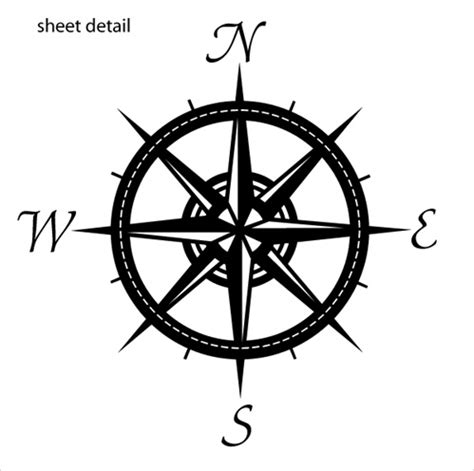 living room and kitchen color ideas compass wall decal sticker
