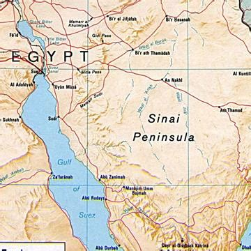biblical mount sinai map pictures to pin on