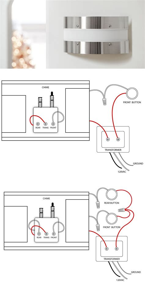 doorbell wiring diagrams home improvement repair wired door bell electrical wiring