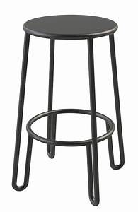 Tabouret Bar 65 Cm : tabouret de bar huggy h 65 cm aluminium carbone maiori made in design ~ Teatrodelosmanantiales.com Idées de Décoration