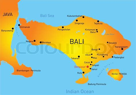 bali country stock vector colourbox