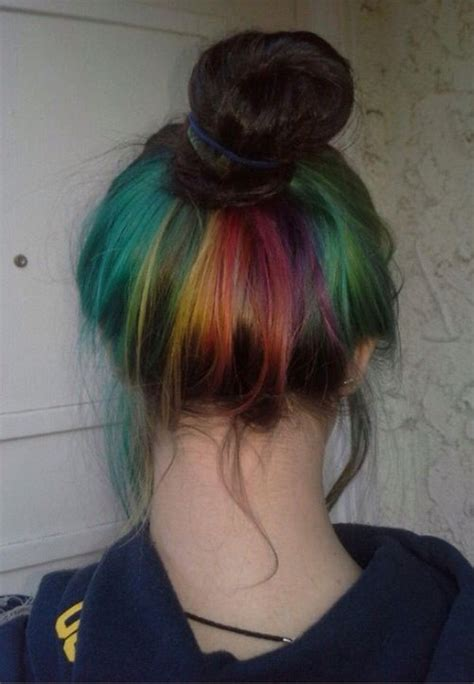 Rainbow Hair Red Blonde And Blonde Color On Pinterest