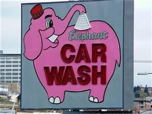 Elephant Car Wash Ta a Washington Neon Signs on